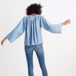 Madewell Denim Square-Neck Top